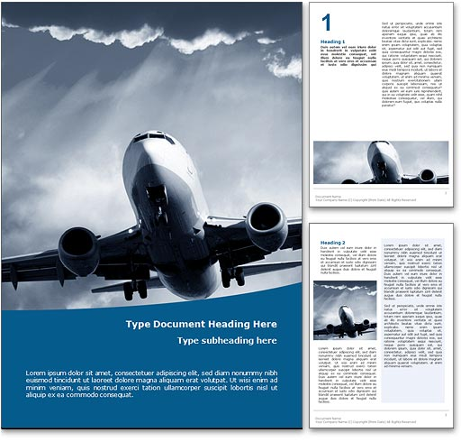 Air Travel word template document